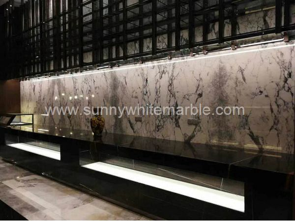 Sunny White Marble Book Match Wall Paver (3)